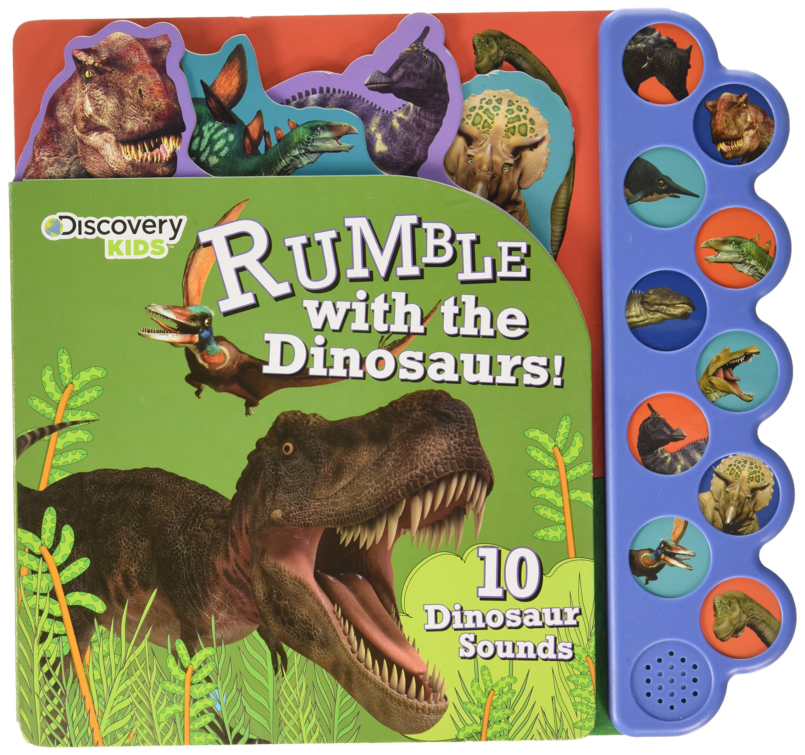 discovery kids dinosaurs rumble sound book discovery 10 button