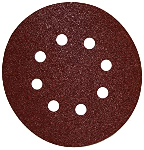 DEWALT DW4309 5-Inch 8 Hole 80 Grit Hook and LoopRandom Orbit Sandpaper (25-Pack)
