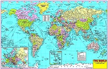 World Political MAP Wallpaper ON FINE Art Paper HD Quality Wallpaper ...