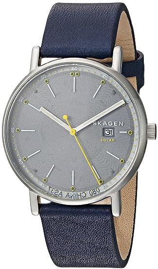 Skagen Signatur - Reloj Solar de Piel Azul