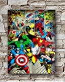 Huawuque Marvel-Here Come The Heroes Poster Standard Size | 18-Inches by 24-Inches | Marvel Posters Wall Poster Print