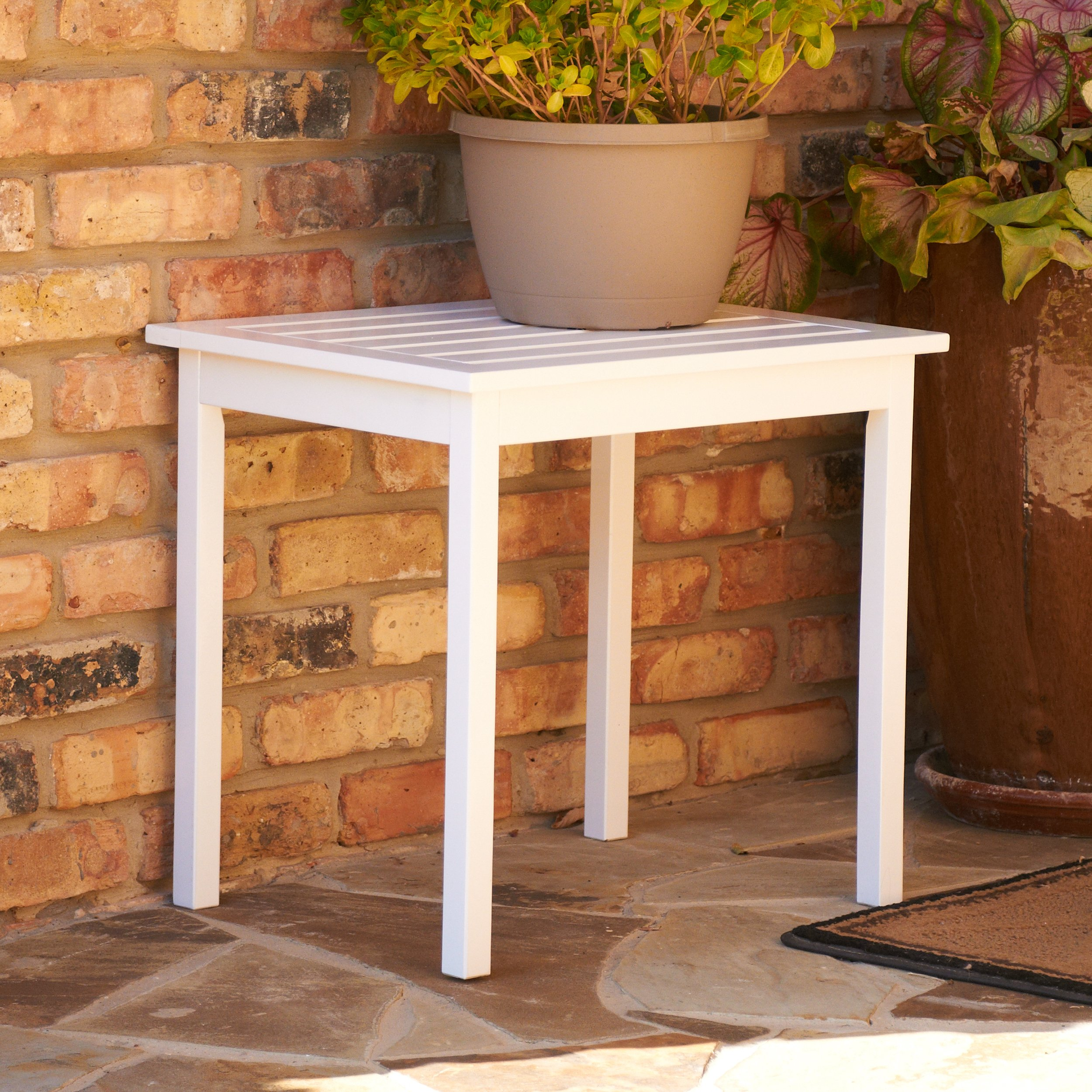Southern Enterprises Hardwood Side End Table, Painted White Finish by SEI (Image #2)