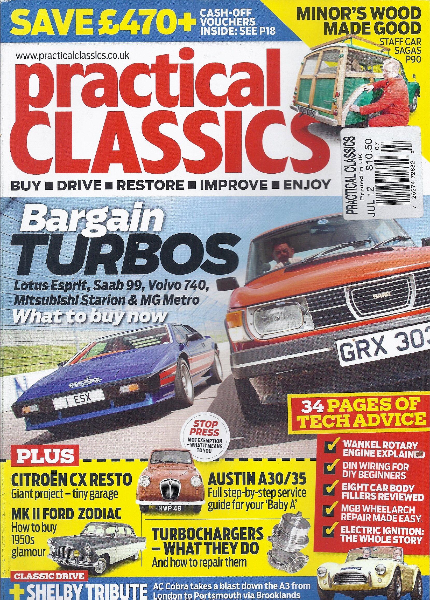 Practical Classics (July 2012,Bargain Turbos) Single Issue Magazine – 2012