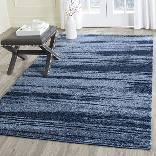 Safavieh Retro Collection RET2693-6065 Modern Abstract Light Blue and Blue Area Rug 8 x 10