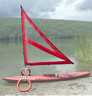 Harmony Upwind Kayak Sail And Canoe Kit Red Complete With Telescoping Mast
