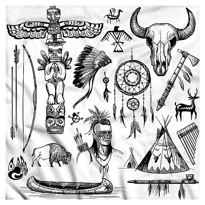 amazon com lunarable native american bandana wild west american
