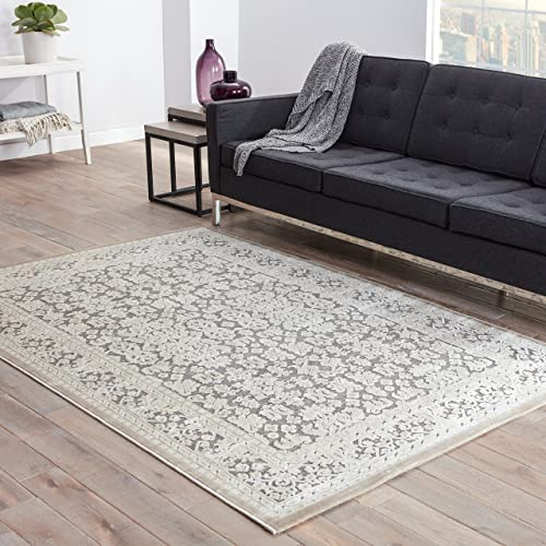 Jaipur Living Regal Oriental Gray Silver Area Rug 2 X 3