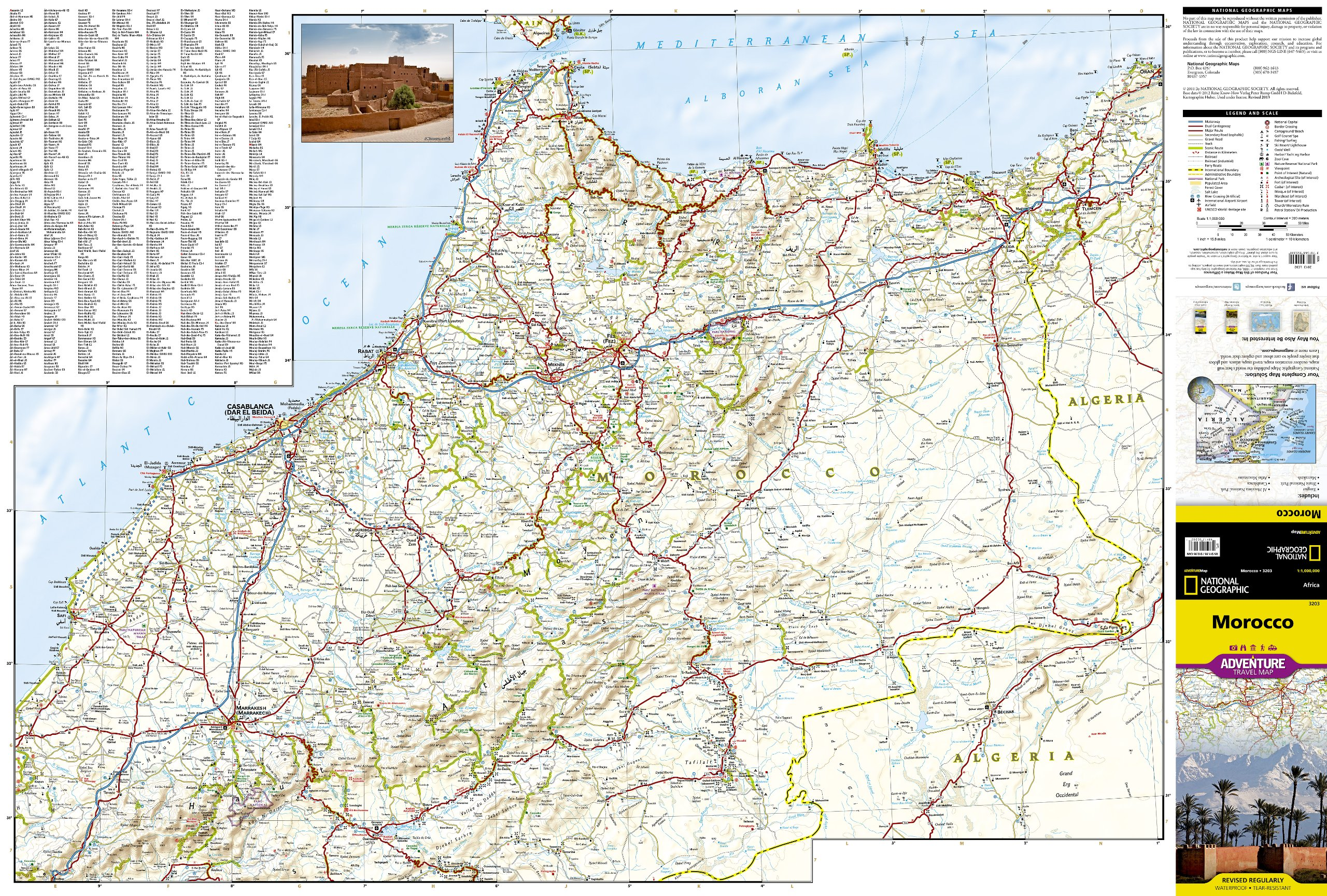 Morocco National Geographic Adventure Map National Geographic