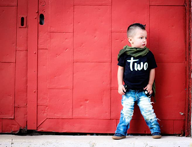 Second Birthday Shirt Boy Personalized Name On Back Two 2nd Outfit Amazonca Handmade