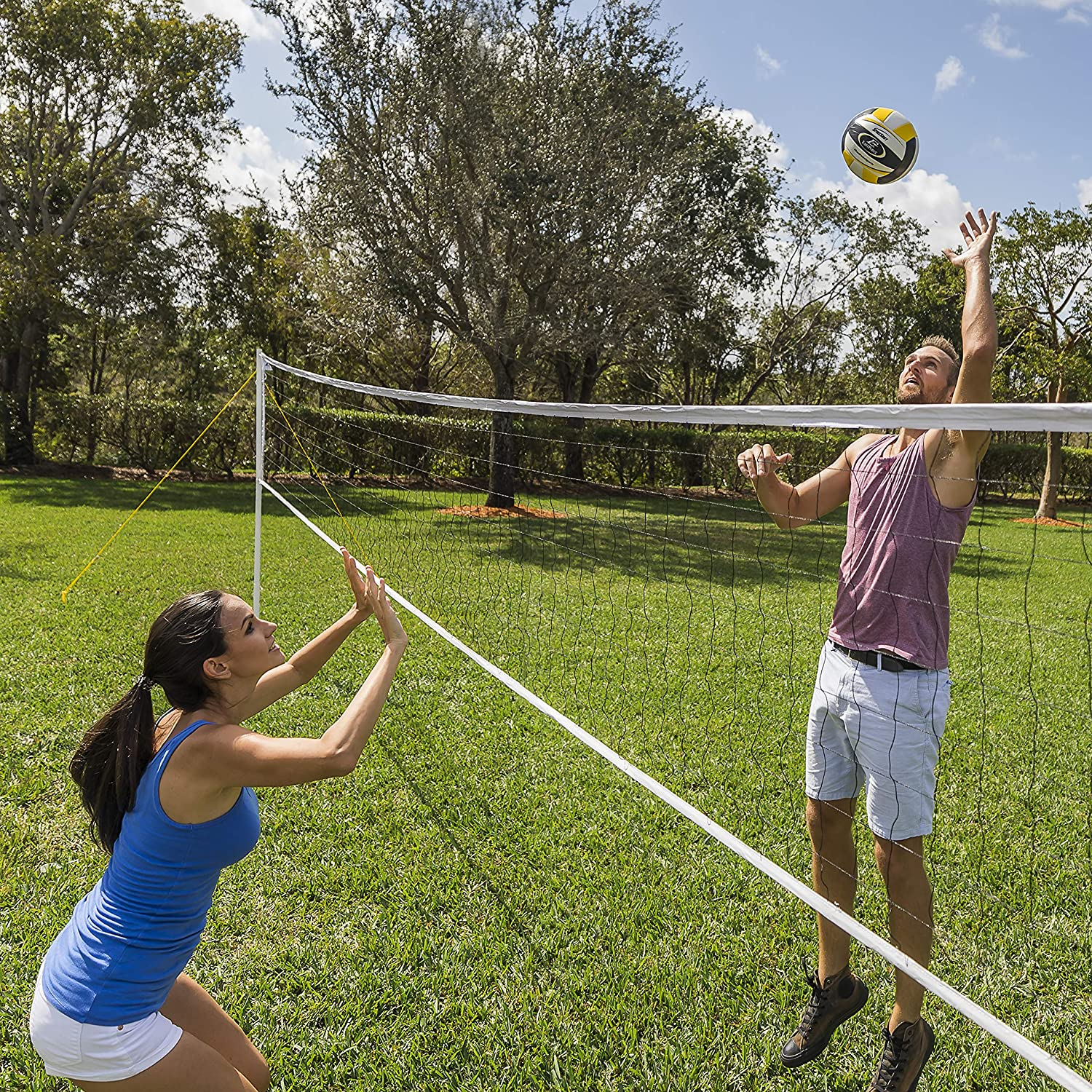 and Weather Resistant Material EastPoint Sports Premium Replacement Volleyball Net Reinforced Side Tapes Features High Strength Cable