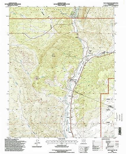 Ojo Caliente New Mexico Map.Amazon Com Yellowmaps Ojo Caliente Nm Topo Map 1 24000 Scale 7 5