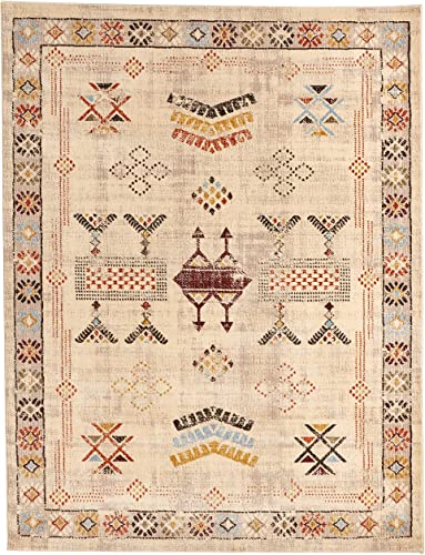 nuLOOM Transitional Tribal Area Rug, 8 x 10 , Beige
