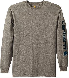 82c755f53de4 Carhartt Men's Signature Sleeve Logo Long Sleeve T-Shirt | Amazon.com