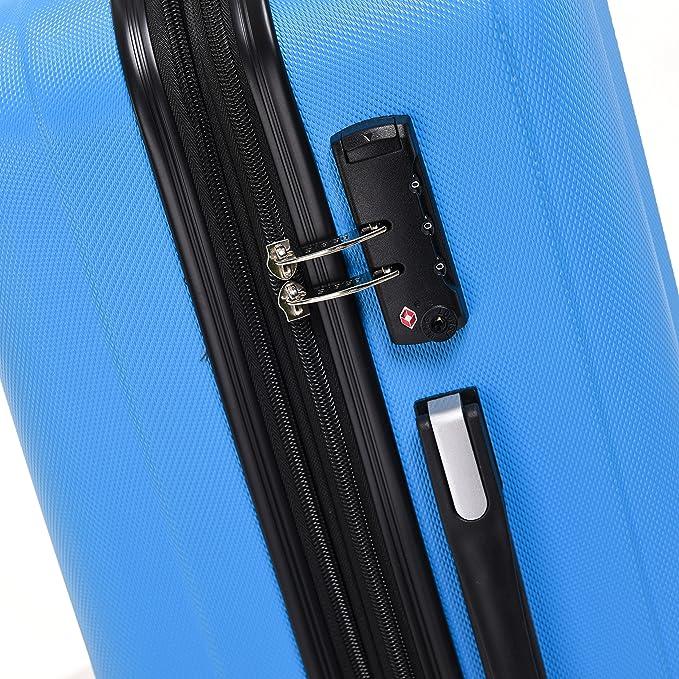 Beibye 2080 Maleta rígida con ruedas, con candado de combinación TSA, perfecta como equipaje de mano, también en juego de M, L y XL, 12 colores para elegir, ...
