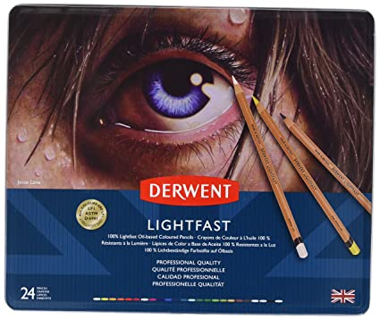 Derwent Lightfast Coloured Pencil Tin of 24