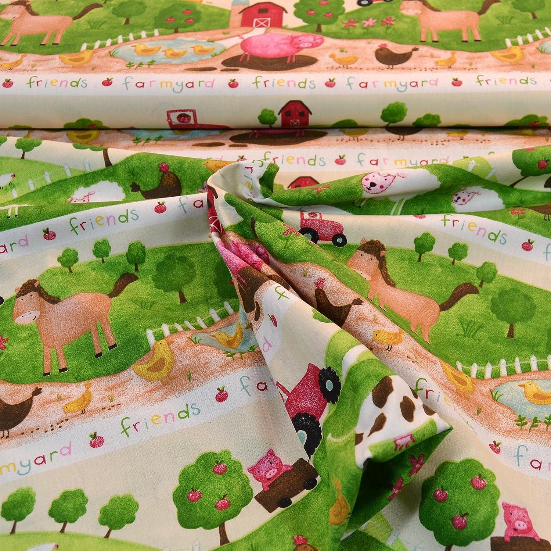 Tissu en coton pour Living Farm en 100/% coton//50/cm//FX 6 597
