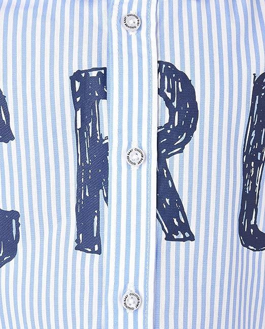 GULLIVER Camisa para bebé y niño, color azul, con estampado, suave, 9-24 meses, 74, 80, 86, 92 cm