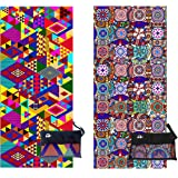Elite Trend Microfiber Beach Towel for Travel - Oversized XL 78x35,72x72,63x63,63x31,71x31Inch Quick Drying, Lightweight, Fast Dry Towels, Sand Free