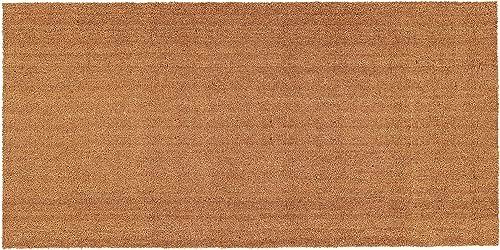 Calloway Mills 153553672 Natural Coir Vinyl Doormat 3 x 6 , Natural