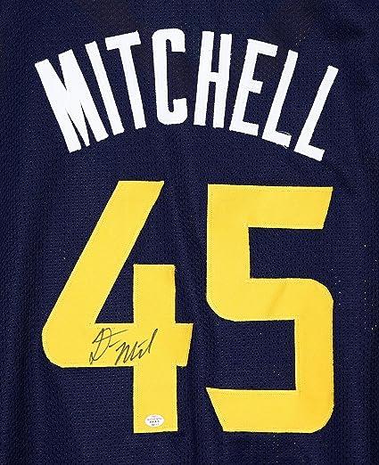 big sale 6b9ca cf7ca Donovan Mitchell Utah Jazz Signed Autographed Blue #45 ...