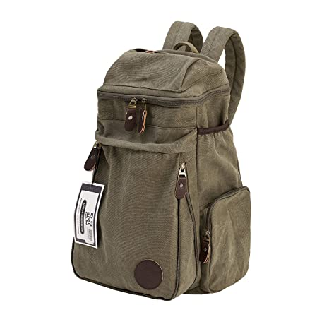 Viaje Vintage lienzo Mensajero Mochila Deporte mochila Camping escuela  Satchel bolso senderismo Militar portátil bolsa equipaje 302ee88f218d2