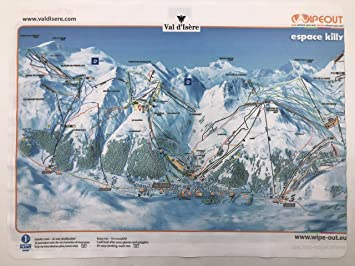Wipeout Piste Map Lens Cloth Tignes Val dIsere Amazoncouk