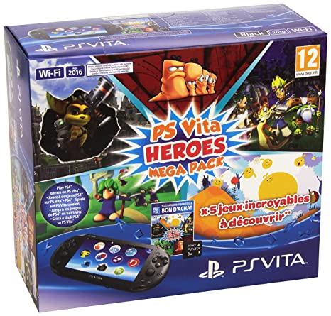 Console Playstation Vita 2000 + Voucher Heroes Mega Pack + ...