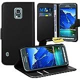 Samsung Galaxy S5 Active Housse Coque - FoneExpert® Etui Housse Coque en Cuir Portefeuille Wallet Case Cover pour Samsung Galaxy S5 Active