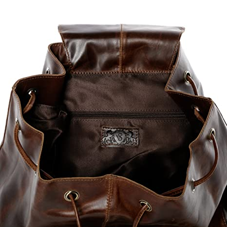 SID & VAIN® Sacca da marinaio vera pelle vintage HEATHROW borsone palestra zaino borsa da viaggio uomo donna cuoio marrone