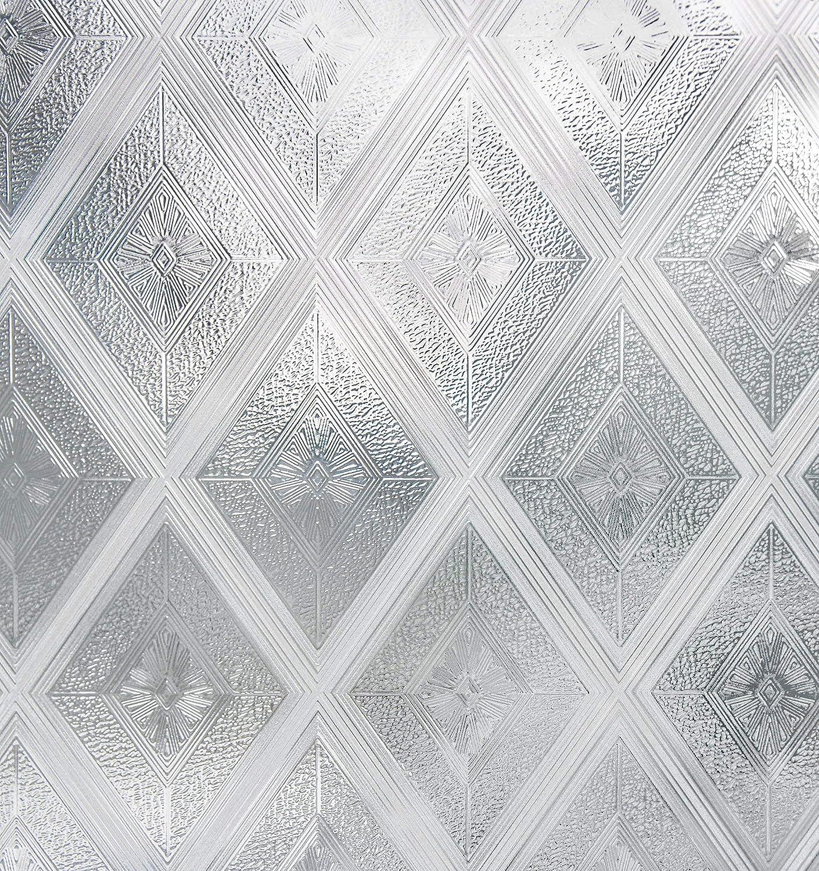 Artscape Diamond Glass Window Film 61 x 92 cm, Vinyl, Silver, 91.4 x 61 x 0.02 cm 02-3006
