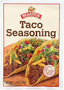 Bearitos Taco Seasoning, 1.4 Ounce (Pack of 12)