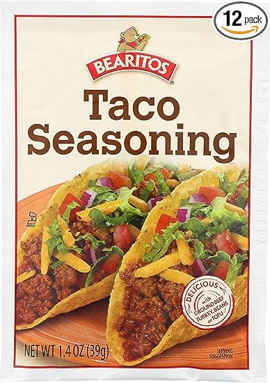 bearitos taco seasoning 1 4 ounce units pack of 12
