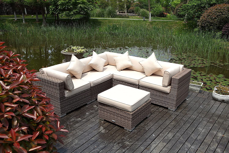 amazon com radeway 6pc outdoor patio furniture sets modern