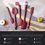 Di Oro Seamless Series 5-Piece Silicone Spatula Set - 600°F Heat-Resistant Rubber Spatulas - Pro-Grade Kitchen Utensil Set - LFGB Certified and FDA Approved Silicone - For Cooking and Baking