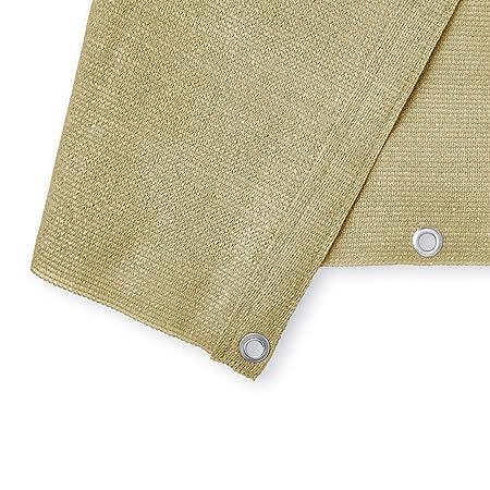 Sabbia Lumaland Tenda frangivento frangivista da Balcone 0,9 x 5 m con Corde per Montaggio 100/% HDPE Filtro Anti UV