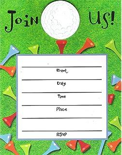 Amazon amanda creation mini golf putt putt birthday party fill tee time invite with applique 8pkg filmwisefo