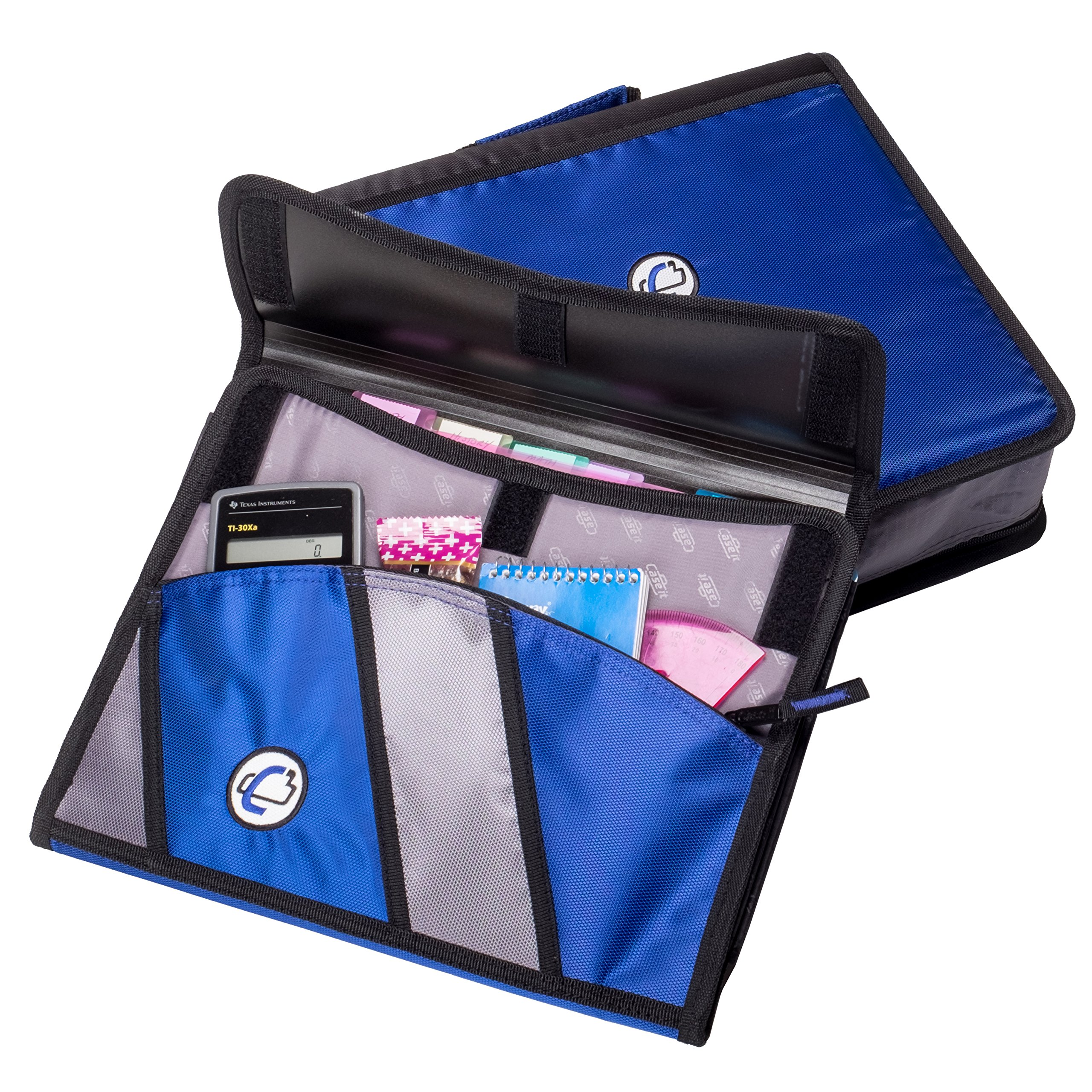 Case-it Sidekick 2-Inch O-Ring Zipper Binder with Removable Tab File, Purple, D-901-PUR by Case-It (Image #3)