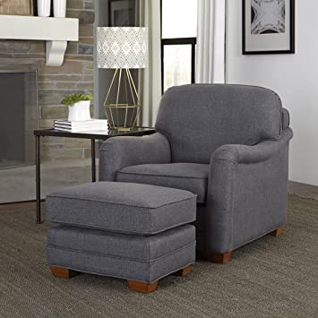 Home Styles 5206 100 Magean Stationary Chair And Ottoman, Grey