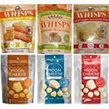 Cello Whisps (2.12oz) and Moon Cheese (2oz) 6 Pack Assortment