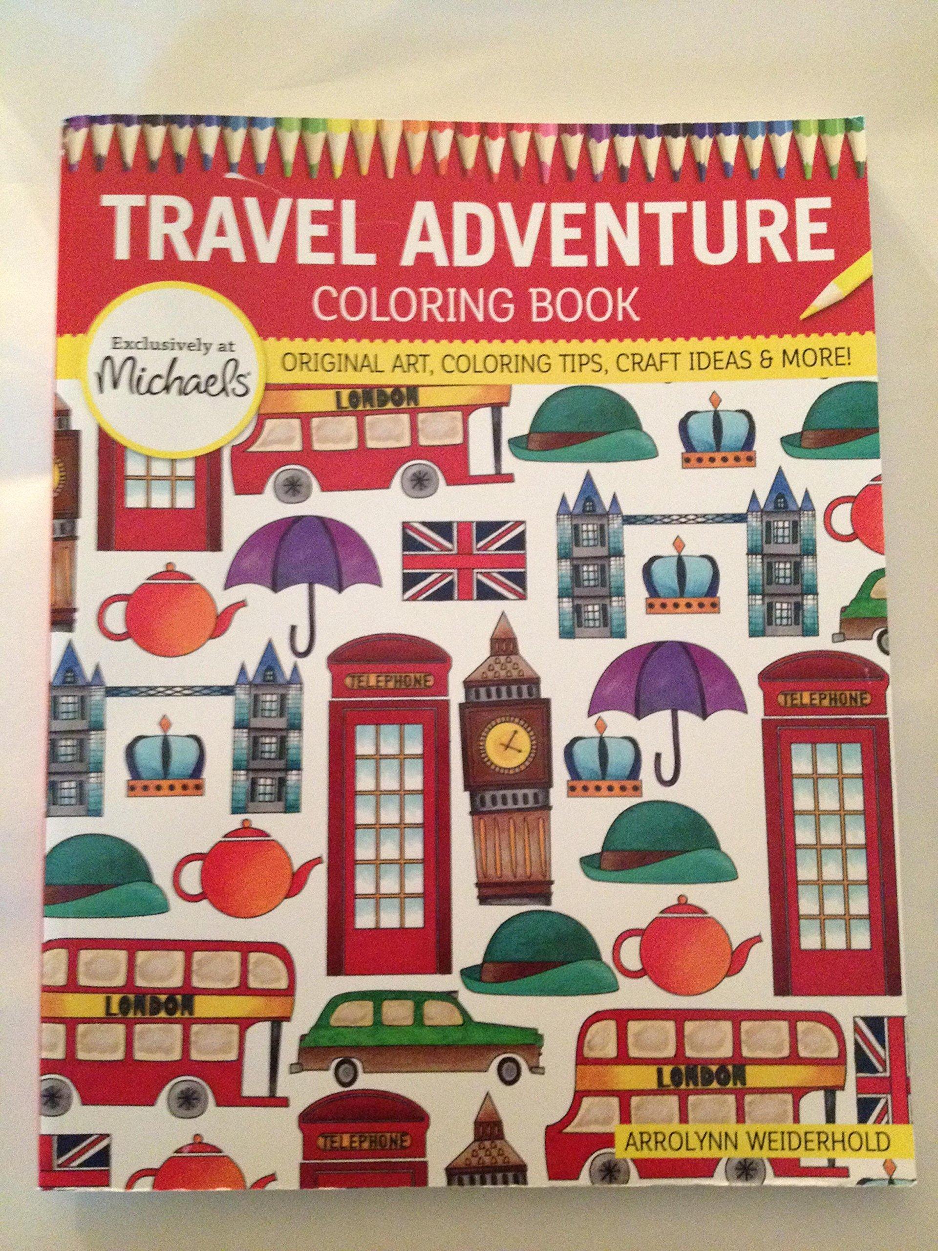 Michaels Travel Adventure Coloring Book Original Art, Coloring Tip ...