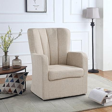 Amazon.com: Modern Swivel Armchair, Rotating Accent Chair ...