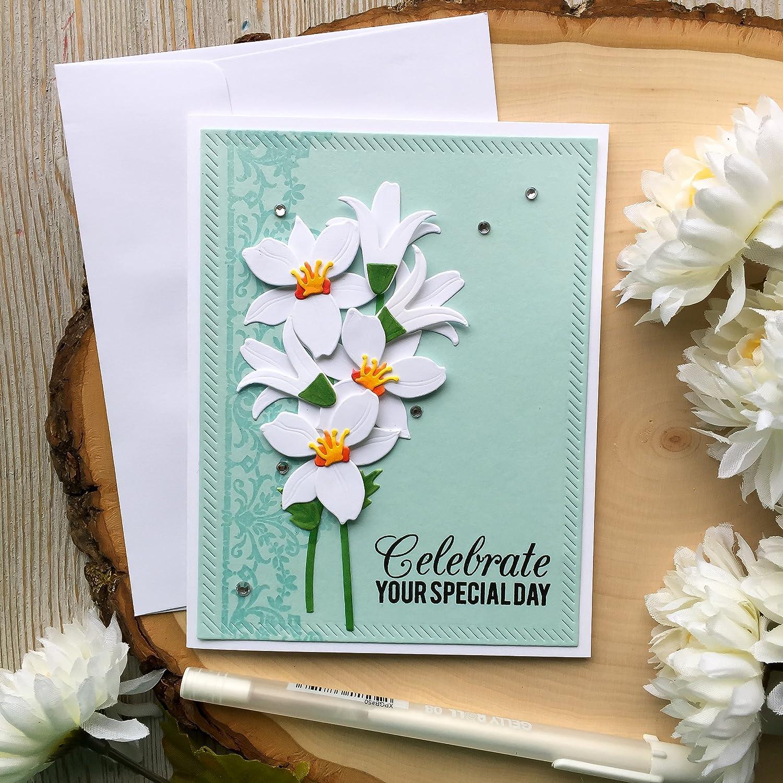 Amazon Com Handmade Birthday Card Greeting Card Birthday Cards Flower Birthday Card Mother Birthday Card Card For Mom Grandma Daughter Sister Handmade