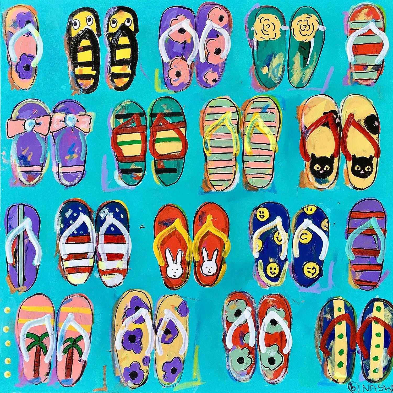 e9ab0a6c1a1614 Flip flops brian nash fine art jpg 1500x1500 Flip flop acrylic paintings