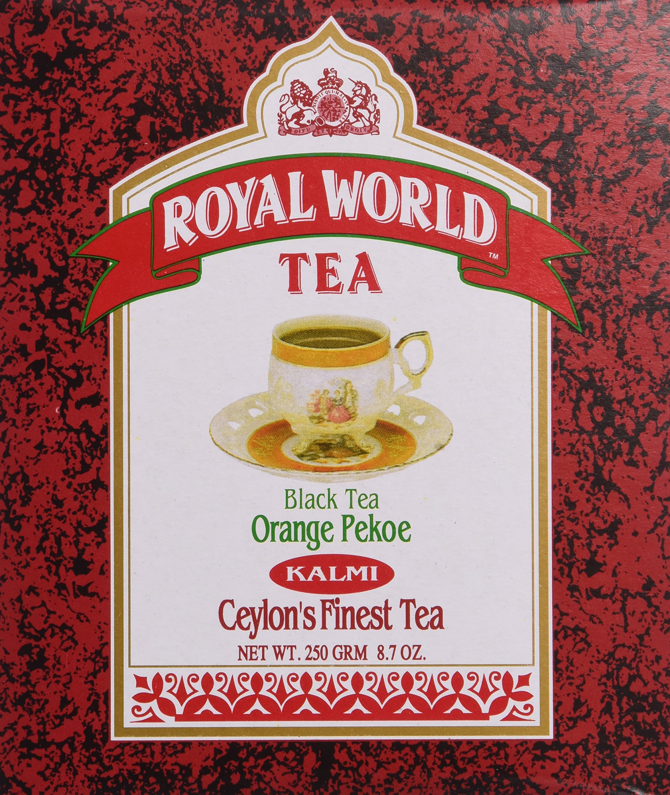 Royal World Orange Pekoe Kalmi Black Tea, 250 Gram (Pack of 24)