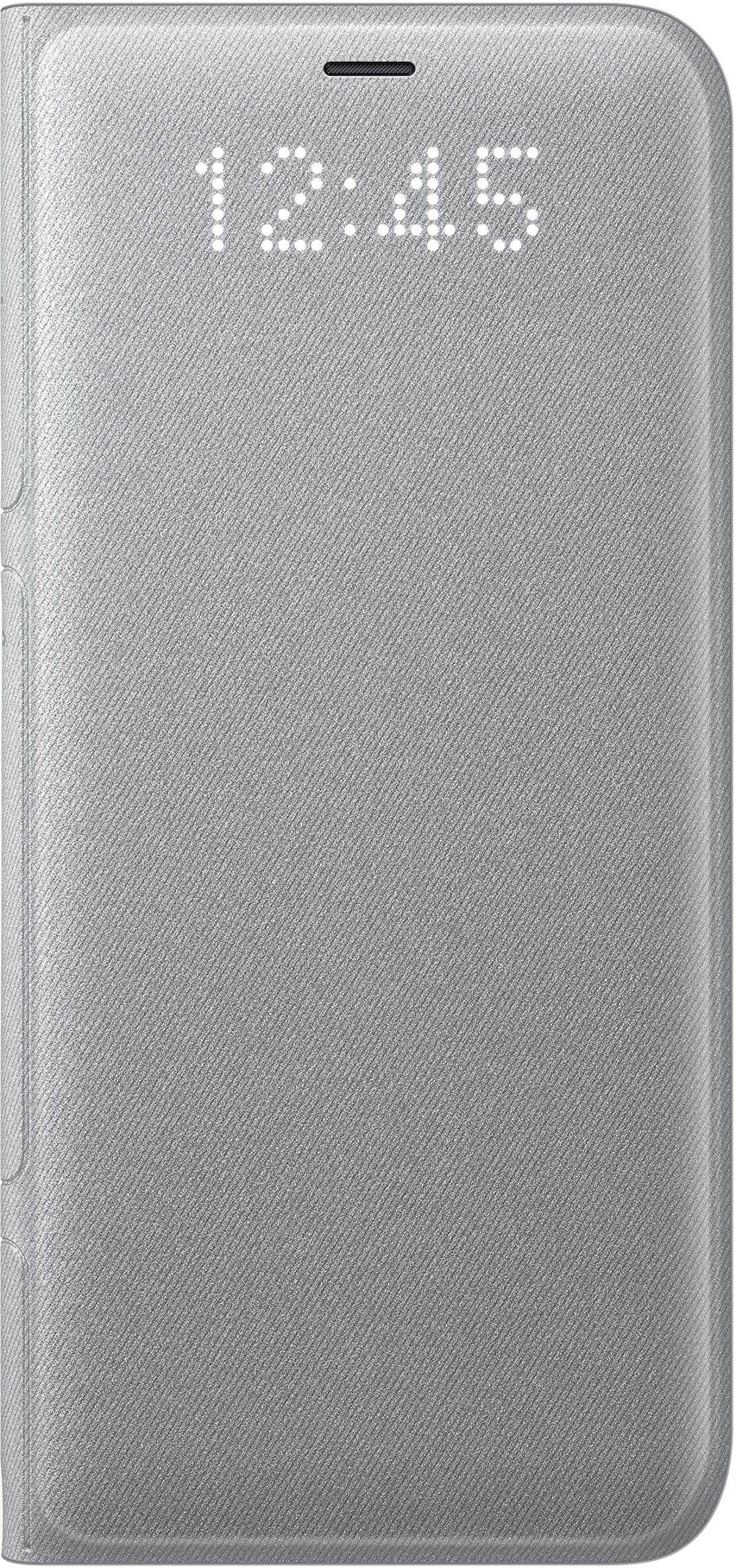 Genuine Samsung LED View Cover Flip Wallet Case for Samsung Galaxy S8 - Silver (EF-NG950PSEGWW)