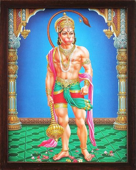Hindu Lord Hanuman in His Palace, a Holy Hindu Religious