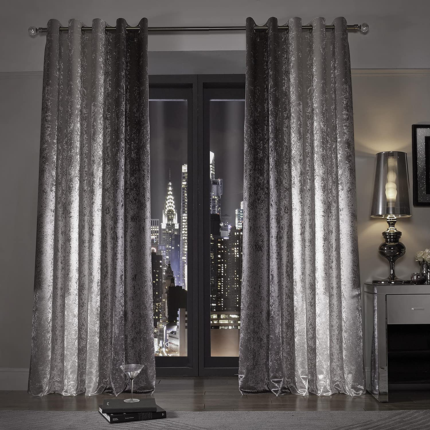 Ready Made Bedroom Eyelet Curtains