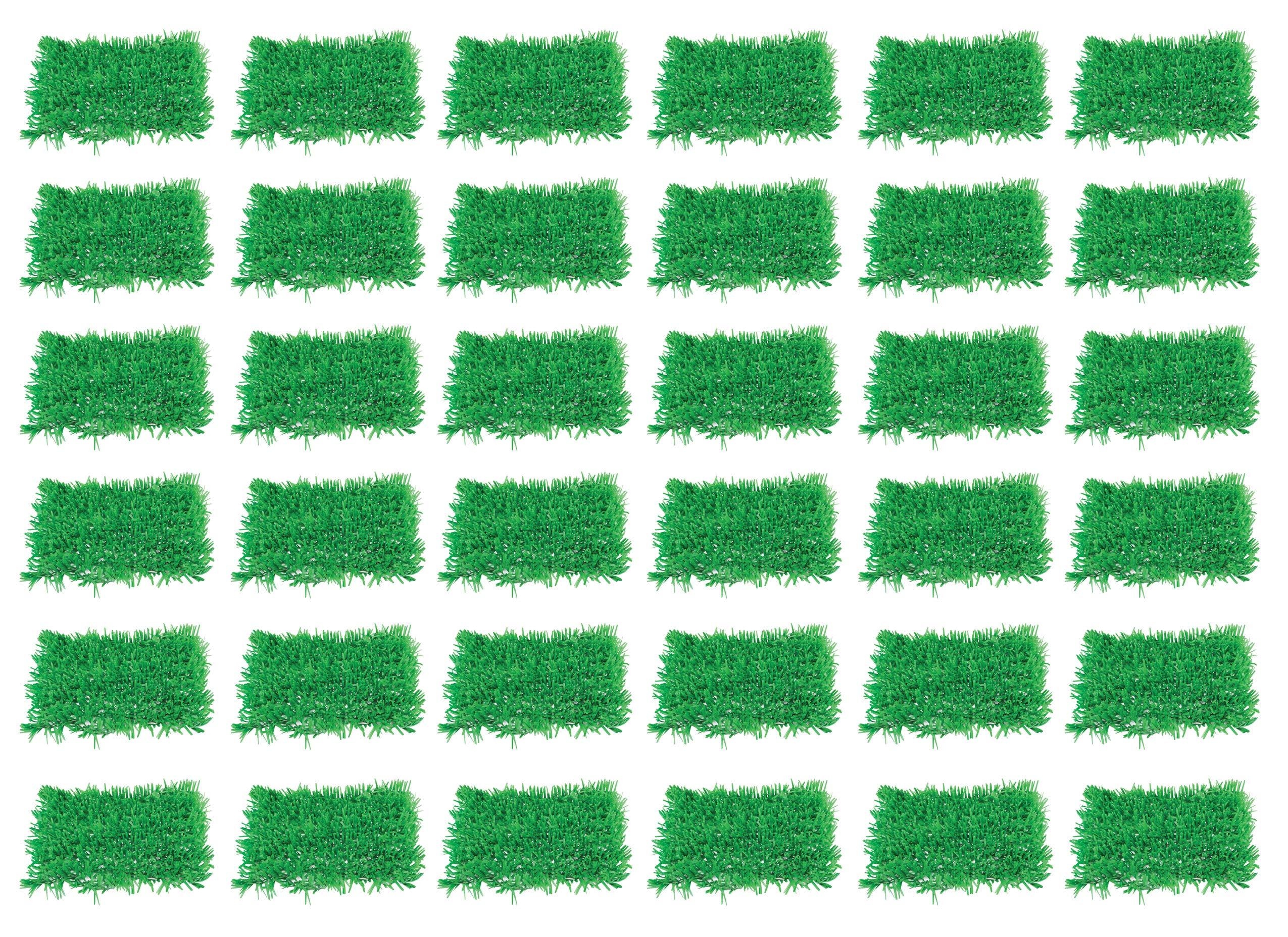Beistle 55640 36-Pack Tissue Grass Mat, 15-Inch by 30-Inch