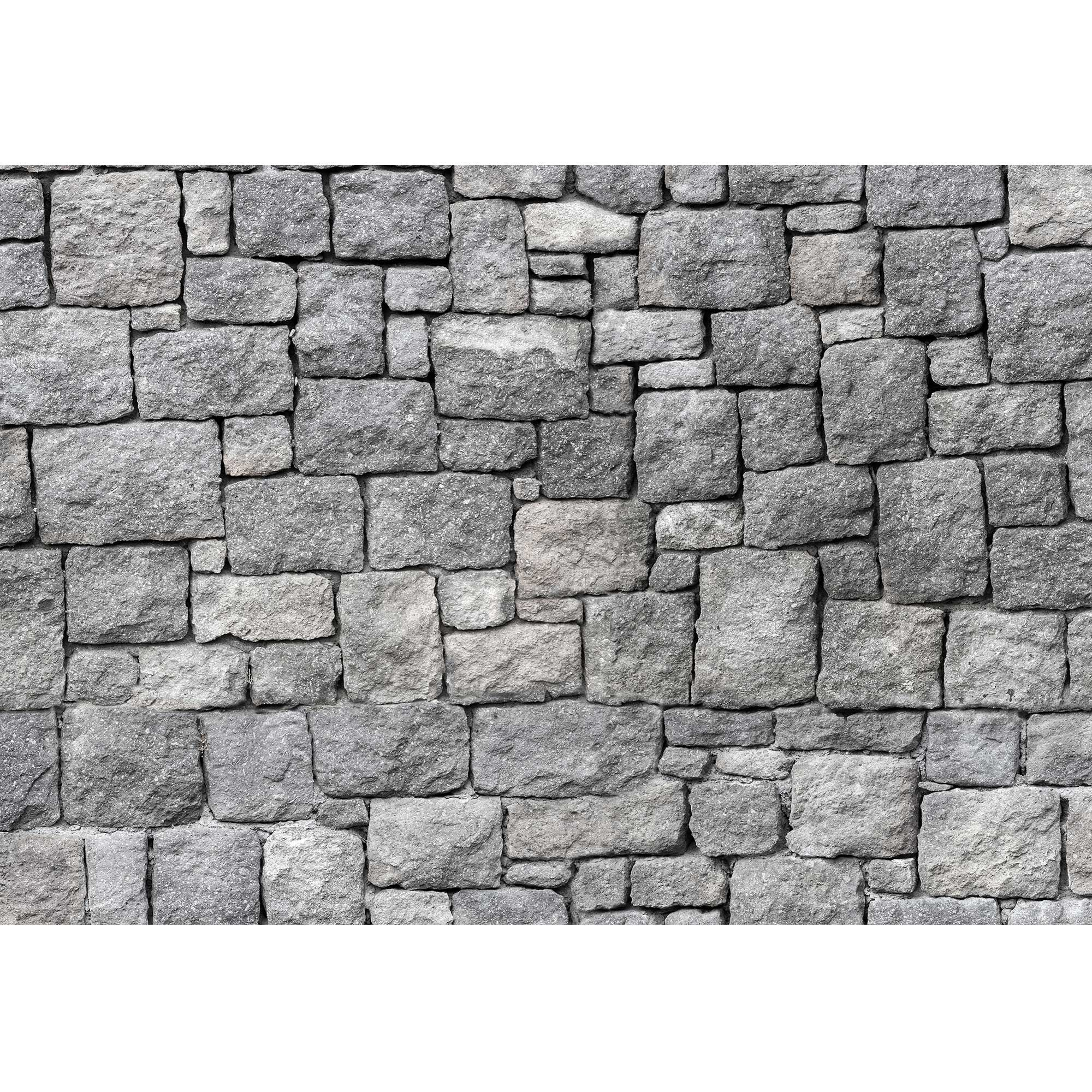 wall26 - Old Gray Stone Wall, Seamless Background Photo Texture - Removable Wall Mural | Self-Adhesive Large Wallpaper - 100x144 inches by wall26 (Image #2)