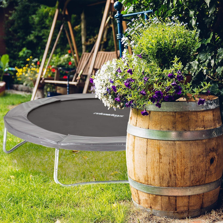 Gr/ö/ßen PVC Federabdeckung Zubeh/ör Gartentrampolin versch Relaxdays Trampolin Randabdeckung gepolstert anthrazit